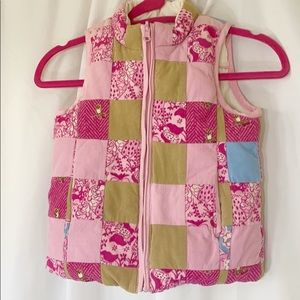 Lilly Pulitzer Pink Patchwork Puffy Vest 6